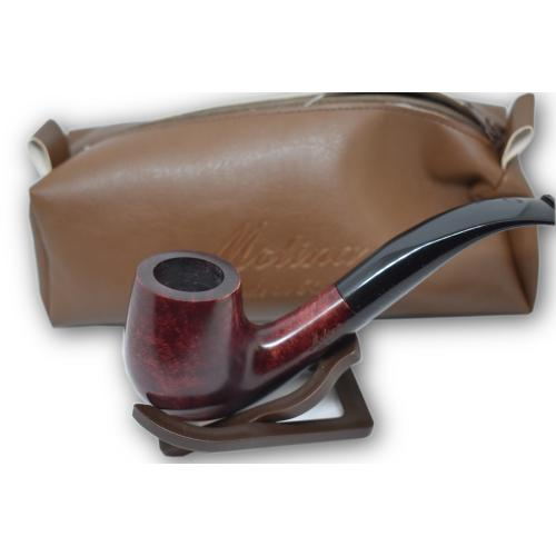 Molina Burgundy Bent Pipe with Case and Accessories