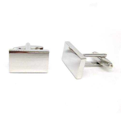 Rectangle Deluxe Personalised Cufflinks