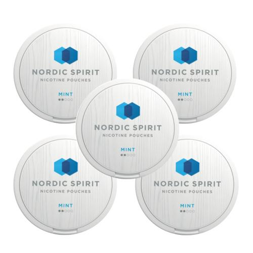 Nordic Spirit Tobacco Free 6mg Nicotine Pouches - Mint- 5 Tins