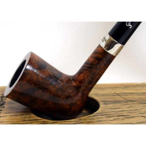 Peterson Churchwarden D17 Smooth Nickel Mounted Fishtail Pipe (PEC146)
