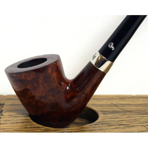 Peterson Churchwarden D15 Smooth Nickel Mounted Fishtail Pipe (PEC183)