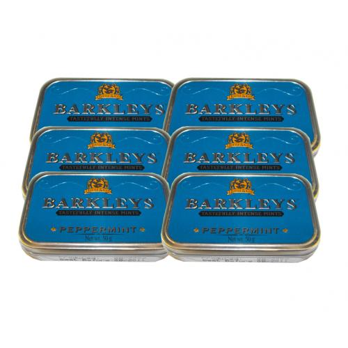 Barkleys Mints – Peppermint Tin – 6 x 50g (300g)