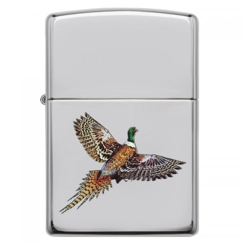 Zippo - High Polish Chrome Pheasant - Windproof Lighter