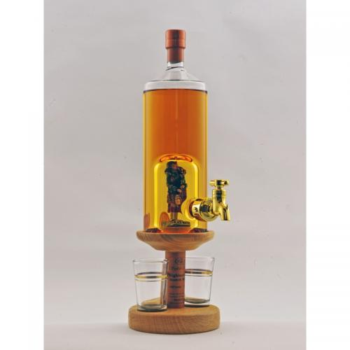 Piper Figure Tap and 2 Glasses - 350ml (Stylish Whisky) 40%
