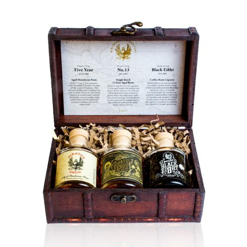 Pirates Grog Chest 3x5cl Gift Set