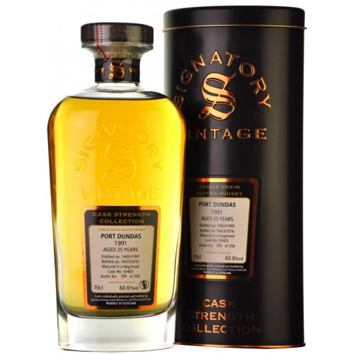 Port Dundas 25 Year Old 1991 Signatory Vintage Single Grain Whisky - 70cl 58.8%