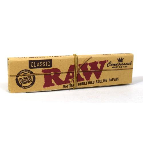 RAW Classic Connoisseur Kingsize Slim Rolling Papers 1 Pack