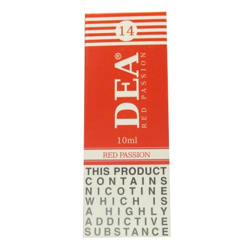 DEA Red Passion Vape E- Liquid 3 x 10ml 14mg