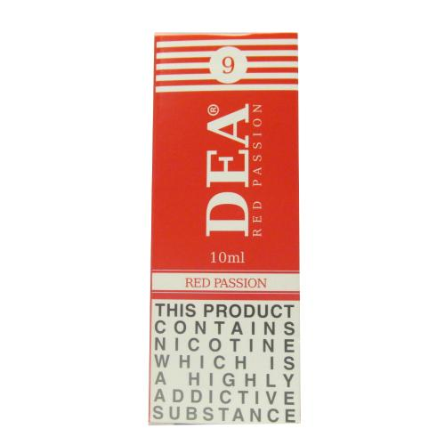DEA Red Passion Vape E- Liquid 10ml 09mg