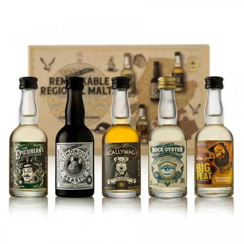 Regional Malts Miniature Whisky Gift Pack - 5x5cl