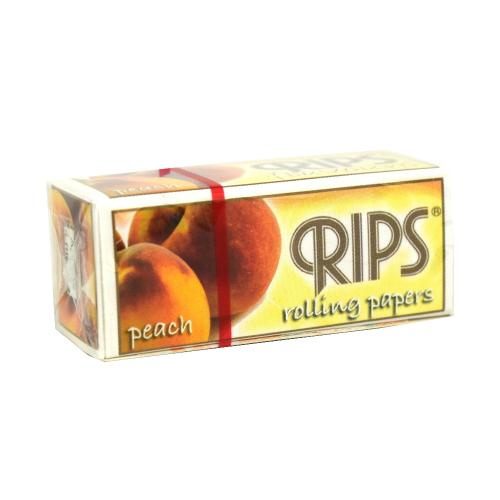 Rips Peach Slim Width Rolling Papers 1 pack