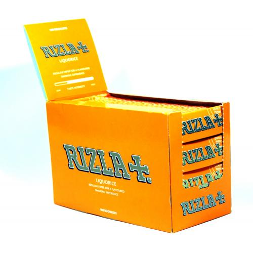 Rizla Regular Liquorice Rolling Papers 100 Packs