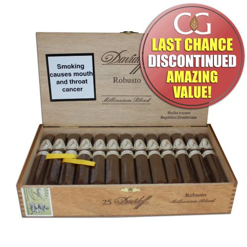 Davidoff Millennium Robusto Cigar - Box of 25 (End of Line)
