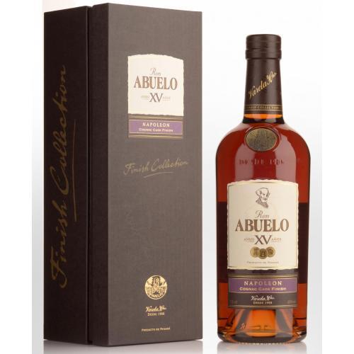 Ron Abuelo XV Napoleon Cognac Cask Finish Rum - 70cl 40%
