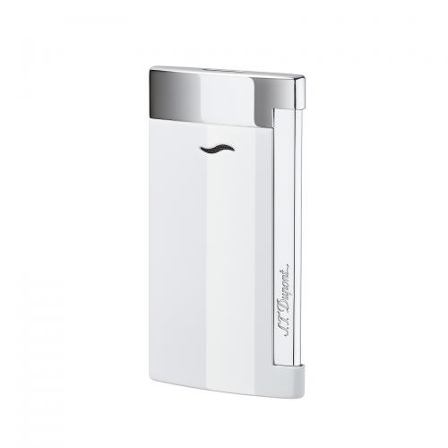 ST Dupont Slim 7 – Flat Flame Torch Lighter - White Lacquer