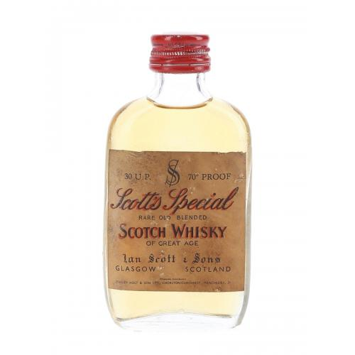 Scotts Special Bottled 1960s Whisky Miniature - 5cl 70 Proof