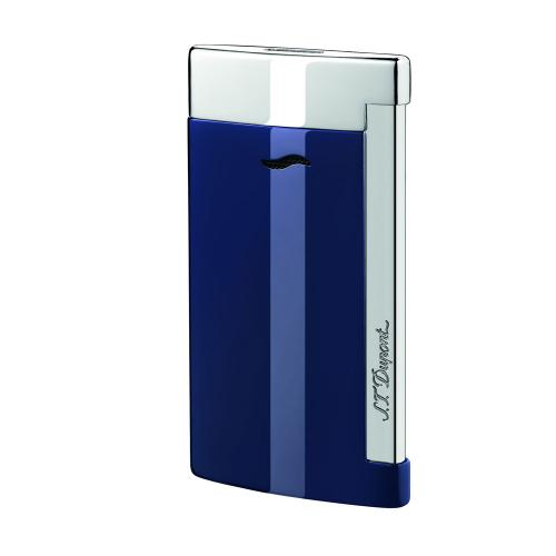 ST Dupont Slim 7 – Flat Flame Torch Lighter - Blue and Chrome