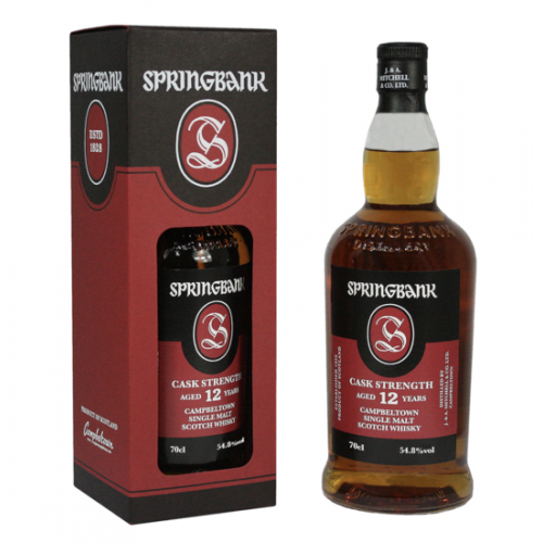 Springbank 12 Year Old Cask Strength 2019 Release Whisky - 70cl 54.8%