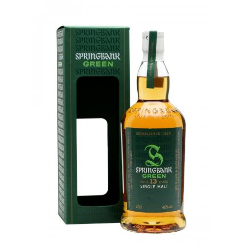 Springbank 13 Year Old Green Bottling Single Malt Whisky - 70cl 46%