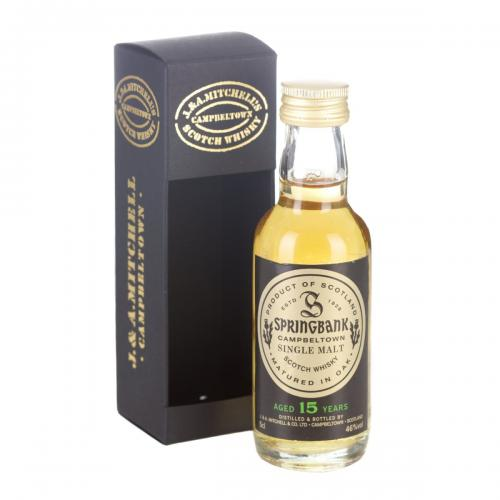 Springbank 15 Year Old Single Malt Scotch Whisky Miniature - 5cl 46%