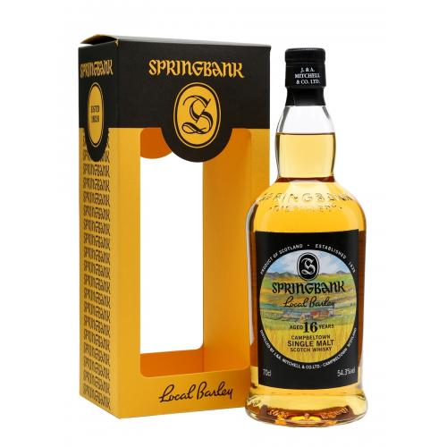 Springbank 16 Year Old Local Barley Whisky - 70cl 54.3%