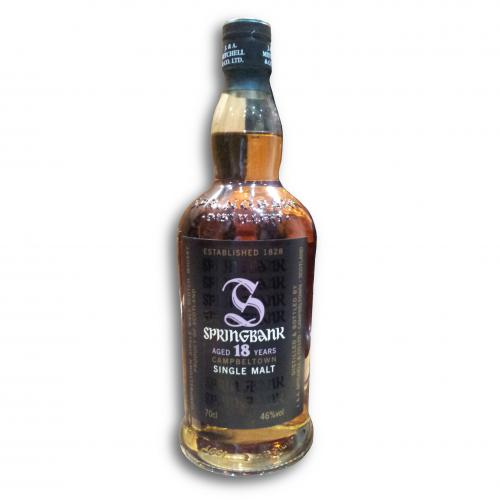 Springbank 18 Year Old Whisky - 70cl 46%