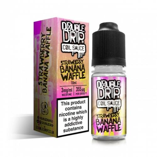 Double Drip Strawberry Banana Waffle Vape E- Liquid 10ml 3mg