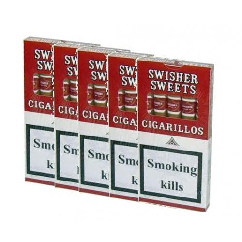 Swisher Cigarillos - 5 x 5 packs (25 cigars)