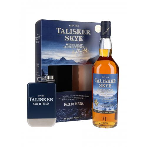 Talisker Skye and Hip Flask Set