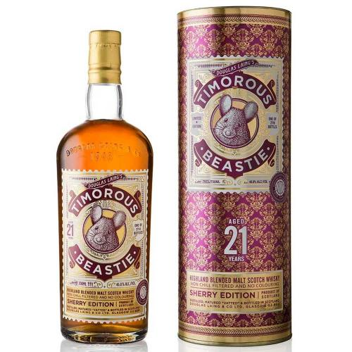 Timorous Beastie 21 Year Old Limited Edition Whisky - 70cl 46.8%