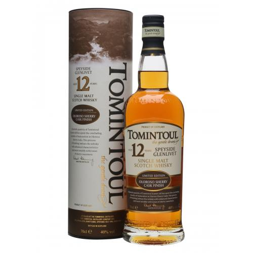 Tomintoul 12 Year Old Oloroso Malt Scotch Whisky - 70cl 40%