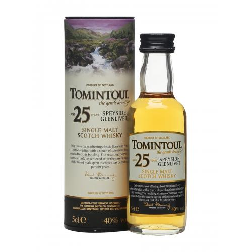 Tomintoul 25 Year Old Glenlivet Single Malt Scotch Whisky Miniature - 5cl 40%