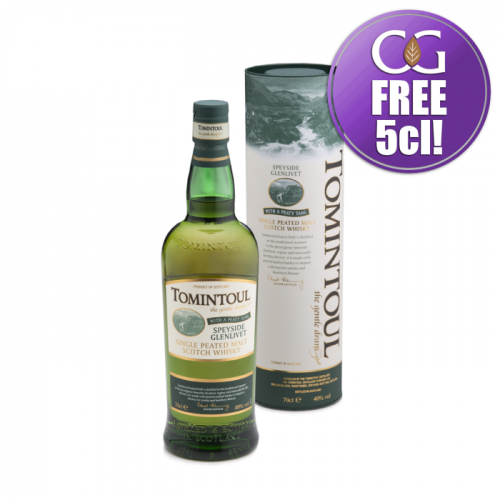 Tomintoul Peaty Tang Single Peated Malt Scotch Whisky - 70cl 40%