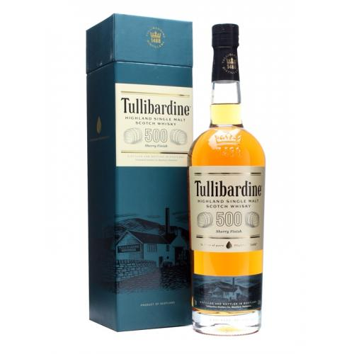 Tullibardine 500 Sherry Cask Finish Single Malt Scotch Whisky - 70cl 43%