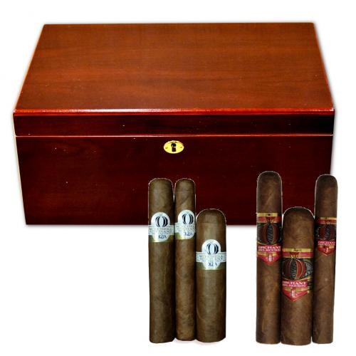 Tuscany Cherry Humidor + Alec Bradley and Oliva Orchant Seleccion Sampler