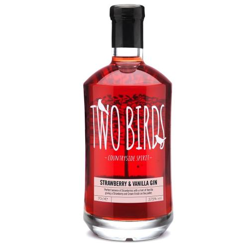Two Birds Strawberry & Vanilla Gin - 70cl 37.5%