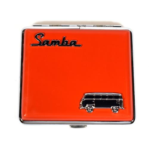 VW Campervan Motif Cigarette Case Holds 18 King Size Double Sided - Red