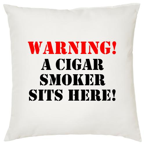 Warning! - Cigar Themed Cushion