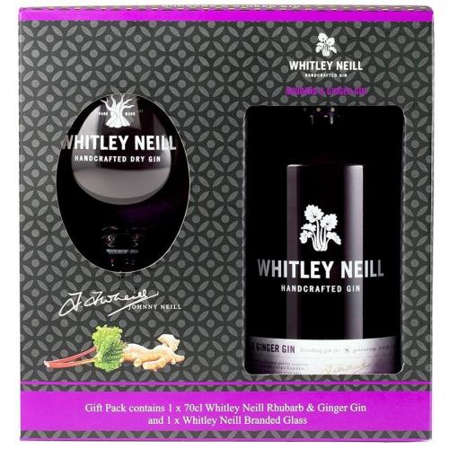 Whitley Neill Rhubarb & Ginger Gin Glass Gift Set