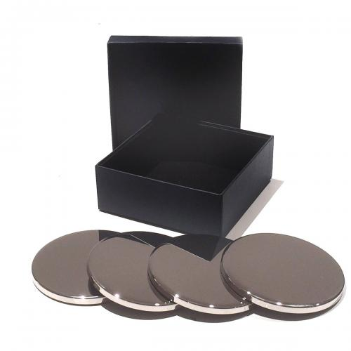 High Polished Metal Coasters - Pack of 4