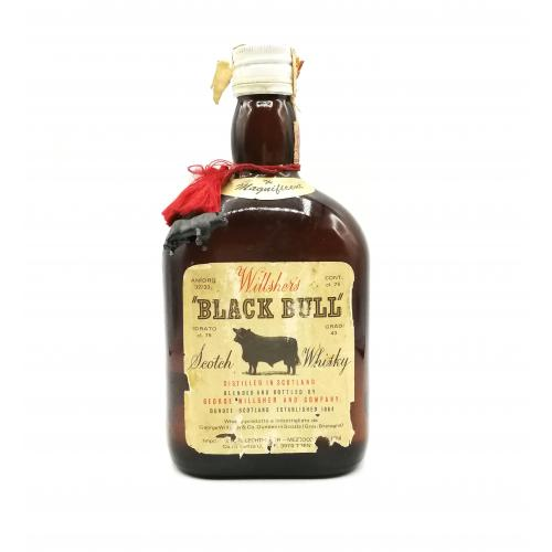 Willshers Black Bull 8 year old 1960s Blended Scotch Whisky - 75cl 50%