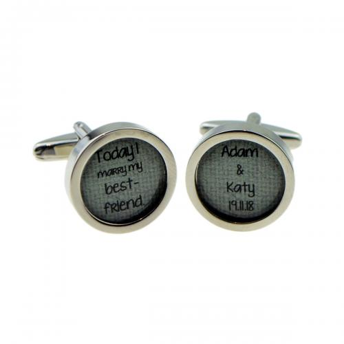 Today I Marry My Best Friend Personalised Cufflinks