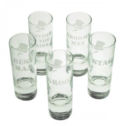 Stag Night Party Wedding Role Personalised Shotglass