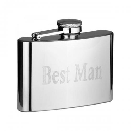 4oz Wedding Title Personalised Hip Flask
