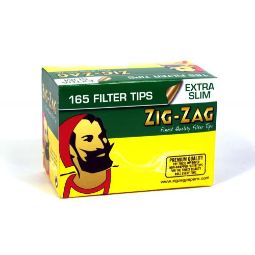Zig-Zag Extra Slim Filter Tips (165) 1 Box
