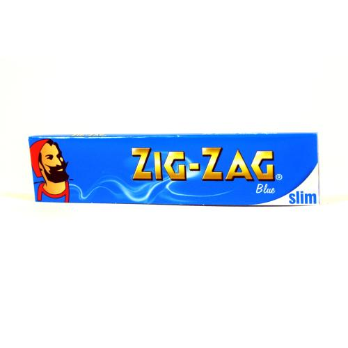 Zig-Zag Kingsize Slim Blue Rolling Papers 1 Pack