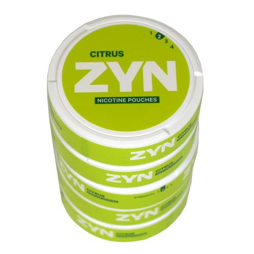 ZYN Tobacco Free Nicotine Pouch Citrus 3mg Can x5