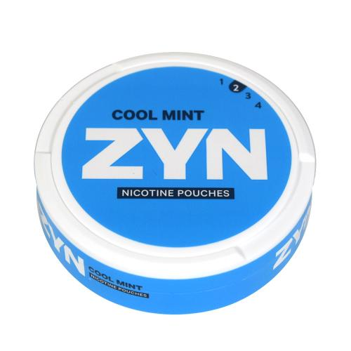 ZYN Tobacco Free Nicotine Pouch Cool Mint 3mg Can