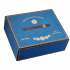 Elie Bleu Medals Collection Blue Humidor - 75 Cigar Capacity