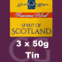 American Blends Spirit of Scotland 3x50g Tins